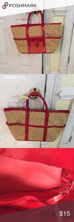 Elizabeth Arden tote Beige with red trim and on the bottom Elizabeth Arden Bags Totes