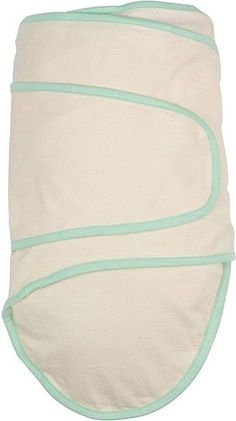 Beige with green trim. Available at www.miracleblanket.com.