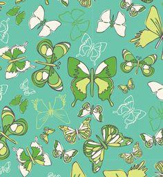 Anthology butterfly fabric - via print & pattern