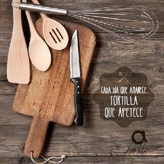 Cada día que amanece tortilla que apetece. #RefranesAmeztoi #comidacasera