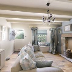 New Living Room Cottage Style Beams Ideas Country Cottage Living Room, Cottage Shabby Chic, Cottage Style, Country Cottage Interiors, Country Decor, Country Lounge, Cottage Door, Living Room With Fireplace, New Living Room