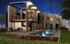 House exterior rendered by KeyShot newbie Jeth.