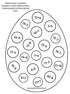 Nauczycielskie zacisze: Wielkanocne pomoce cz.3 - pokoloruj wg instrukcji