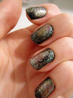 Galaxy nails via Tommy & Ella