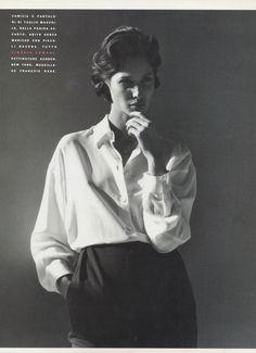 ☆ Christy Turlington | Photography by Steven Meisel | For Vogue Magazine Italy | March 1991 ☆ #christyturlington #stevenmeisel #vogue #1991