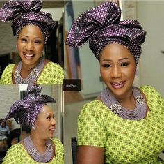 Aso Oke Gélé headwrap attaché foulard turban