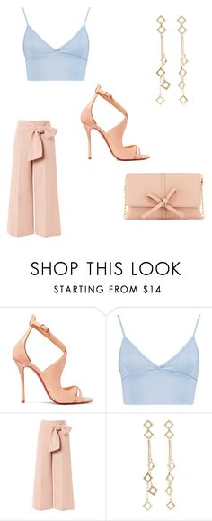 """Untitled #37"" by iammissdaysha ❤ liked on Polyvore featuring Christian Louboutin, Boohoo, Topshop, Arme De L'Amour and Neiman Marcus"