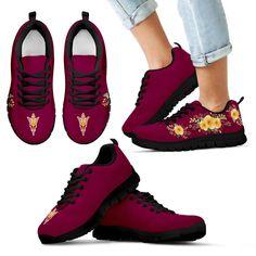 Beautiful Flowers Sport Arizona State Sun Devils Sneakers – Best Funny Store