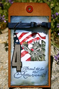 4th of July tags for Tim Holtz - 12 Tags of 2012 (July).