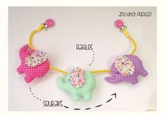 Sensory toy stroller chain newborn gift baby girl by YayoHandmade