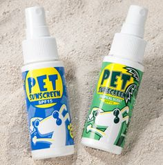 Pet Sunscreen SPF 15 - You wouldn't dream of spending the day in the sun without sunscreen. Now you can protect your dog from damaging UV rays just as you protect yourself.