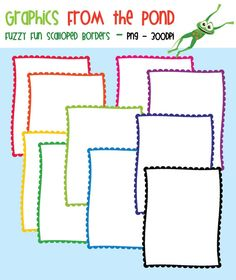 FREE Fuzzy Fun Scalloped Borders Graphics From the Pond