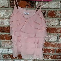 Sweeeeet Candie's pink top For day or evening feminine top with adjustable straps Candie's  Tops