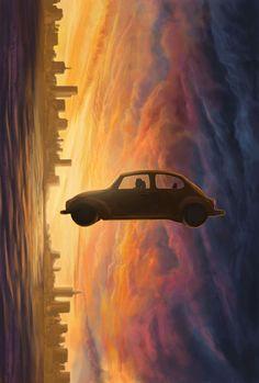 Cloud Atlas Illustrations by Tom McGrath, via Behance