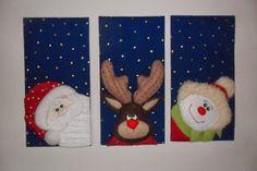 Estos cuadros los realice con una nueva técnica. Christmas Arts And Crafts, Christmas Rock, Christmas Flowers, Christmas Makes, Merry Little Christmas, Christmas Fabric, Christmas Time, Christmas Decorations, Xmas