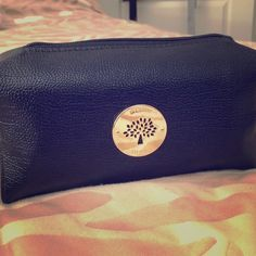 Black/gold makeup bag Beautiful makeup bag with strap Mulberry Bags Cosmetic Bags & Cases