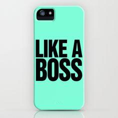 Like a Boss Tiffany Mint iPhone & iPod Case by RexLambo - $35.00