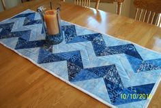 Reversible Table Runner; Snow & Country Christmas by QuiltAWaybyMary on Etsy