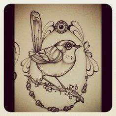 Fat bird #bird #tattoo #tattoos #ink #bird
