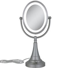 $39.95 Zadro Lighted Double Sided 8X Oval Magnifying Vanity Mirror - elegant, affordable, looks great on any vanity or bathroom. Perfect for applying makeup!