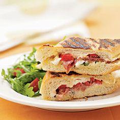 Classic Italian Panini with Prosciutto and Fresh Mozzarella   MyRecipes.com
