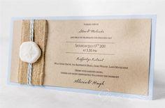 Beach Wedding Invitation DIY Kit ~ Sand Dollar DL Invite ~ Makes 25 Invites