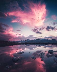Pink sunset and a nature traveller outdoor store, landscape photography, travel photography, art Beautiful Sky, Beautiful Landscapes, Beautiful World, Beautiful Images, Landscape Photography, Nature Photography, Travel Photography, Photography Tips, White Photography