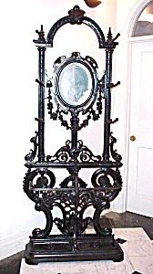 VICTORIAN FRENCH WROUGHT IRON HAT RACK