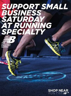 It's #SmallBusinessSaturday so come in and support #Fit2Run, 10am-10pm! #SmallBusiness #support #F2R