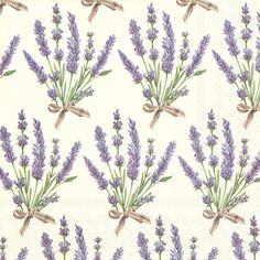 IHR Bouquet of Lavender cream Floral Printed 3-Ply Paper Luncheon Napkins Wholesale L728460