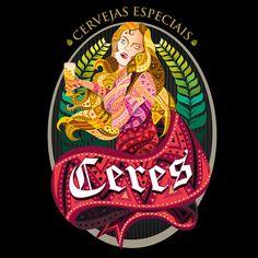 Ceres Cervejas Especiais  Ilustração e criação para o logotipo e a identidade visual da Ceres Cervejas Especiais.  https://www.facebook.com/cerescervejas  Técnica: Ilustração Digital Brasil 2014