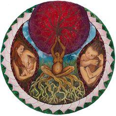 Shop mandala motherhood artwork for your favorite doula, midwife, mama, or birth junkie. Original artwork surrounding the idea of motherhood. Doula, Birth Art, Birthing Classes, Pregnancy Art, Sacred Feminine, Feminine Energy, Future Maman, Natural Birth, Arte Popular