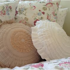 Spring Floral collection with petticoat pillows from rascc.net