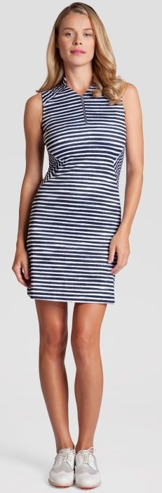 "Check out what #lorisgolfshoppe has for your days on and off the golf course! Tail Ladies ""Jet Setter"" Ninette 36.5"" Golf Dress - Stripe"