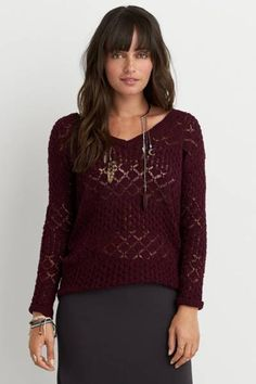 AEO Pointelle Pullover Sweater  by AEO   Get on point(elle) with your