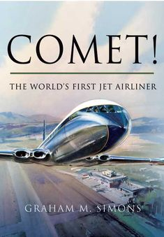 The De Havilland Conet, jet liner De Havilland Comet, Aviation Decor, Passenger Aircraft, Airplane Art, Vintage Airplanes, Commercial Aircraft, Vintage Travel Posters, Trains, Aeroplanes