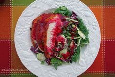 Gourmet Girl Cooks: Sweet Kale Salad w/ Chicken and Cranberry Vinaigrette - uses mix from Costco or Sam's