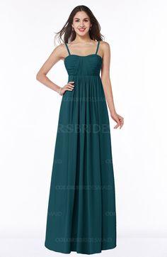 Blue Green Glamorous A-line Sleeveless Floor Length Ruching Plus Size Bridesmaid Dresses