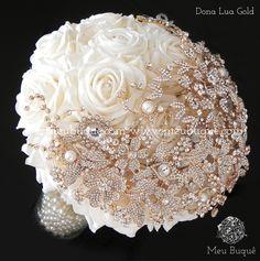 Bouquet Bling, Broch Bouquet, Beaded Bouquet, Wedding Brooch Bouquets, Hand Bouquet, Diy Bouquet, Bling Wedding, Floral Wedding, Bride Flowers