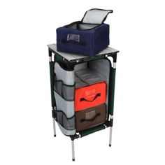Gander Mtn. Organizer End Table - Gander Mountain  Want this to organize toiletries for the family. One bin per person. If it doesnt fit, it doesnt go.