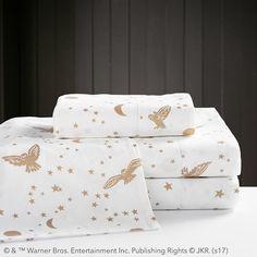 HARRY POTTER & Enchanted Night Sky Sheet Set, Twin/Twin XL, Gold