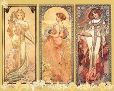 About Art - Talent works, genius creates... : Mucha, Alphonse (Czech Art Nouveau painter, 1860-1939)