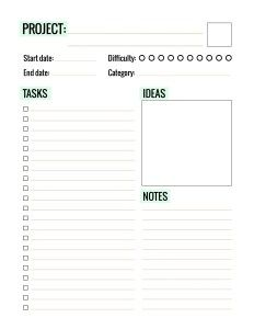 Cute Project Planner  Free Download From Jen Allyson  The