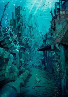 52 Ideas For Steampunk Concept Art Scenery Fantasy Anime, Fantasy Art, Art And Illustration, Steampunk Illustration, Design Illustrations, Character Illustration, Ville Steampunk, Steampunk City, Art Environnemental