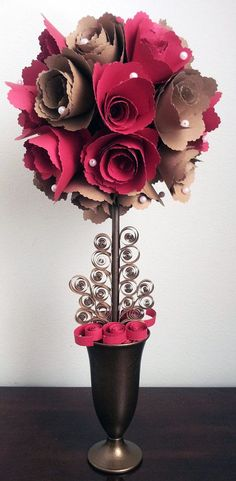 Paper rose topiary pinterest easy paper crafts topiary and rose recycled paper topiary tree mightylinksfo