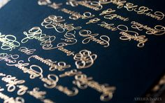 Gold and Black Python Wedding Invitation on Behance