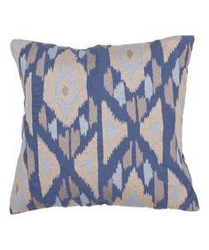 Blue Geo Throw Pillow - Set of Two #zulily #zulilyfinds
