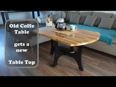 This is a step by step tutorial an how to give an old coffee table a complete makeover. On the beginning of the video you will see how the old table top of t. Old Coffee Tables, Coffe Table, Diy Projects, Change, Building, Youtube, Top, Furniture, Home Decor