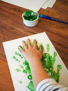 Little Hiccups: Hand Print Christmas Trees