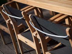 Simple Klappstuhl Kunststoff Sitzen Plastik Balkon Schwarz Teak Balcony Black